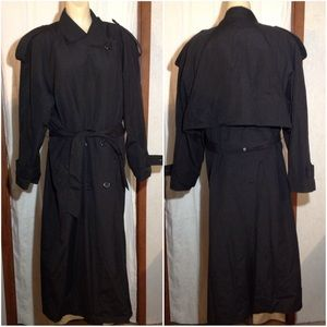 Women's Size 14R Towne London Fog Trenchcoat